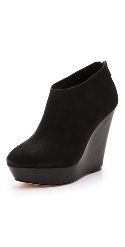 Loeffler Randall Laynie Suede Wedge Booties at Shopbop / East Dane