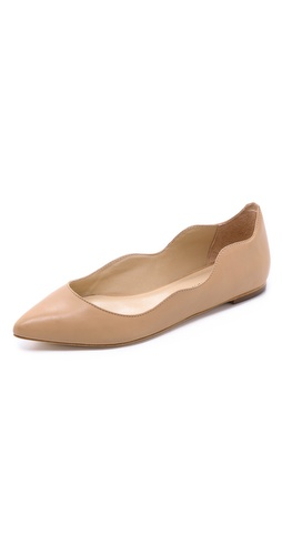 Kupi Loeffler Randall cipele online i raspordaja za kupiti A serpentine top line lends a sculptural element to pointed-toe ballet flats. Leather sole.  Leather: Cowhide. Made in Brazil. This item cannot be gift-boxed. - Buff