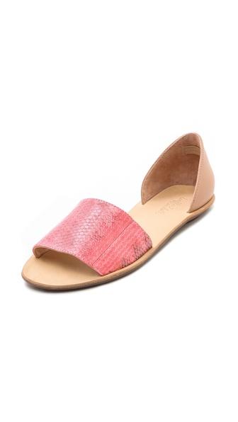 Loeffler Randall Sawyer Snake Flat Sandals