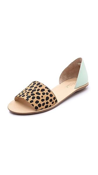 Loeffler Randall Sawyer Haircalf Flat Sandals