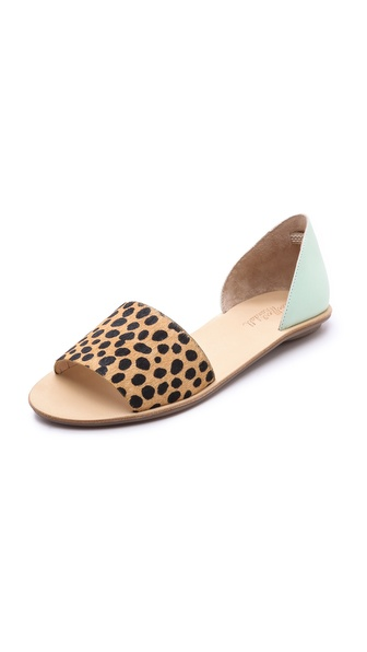 Loeffler Randall Sawyer Haircalf Flat Sandals