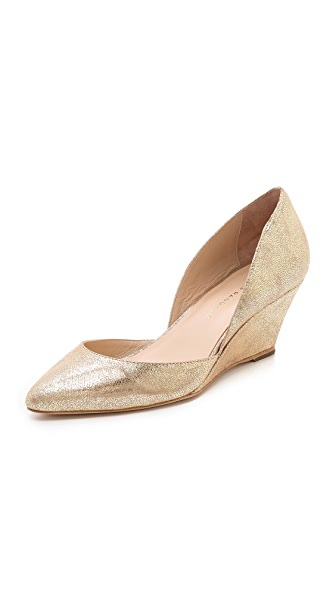 Loeffler Randall Rae Metallic Wedge Pumps
