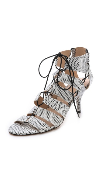 Loeffler Randall Luiza Lace Up Sandals