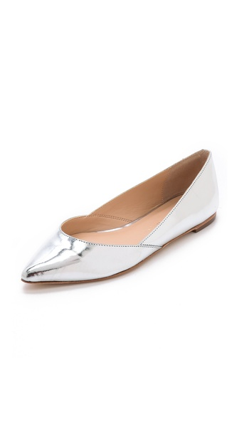 Kupi Loeffler Randall cipele online i raspordaja za kupiti An angled top line and pointed toe accentuate the sleek look of metallic leather Loeffler Randall flats. Leather sole. Leather: Cowhide. Imported, Brazil. This item cannot be gift boxed. Available sizes: 6,6.5,7,9.5,10