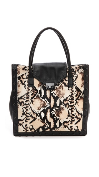 Loeffler Randall Work Tote with Haircalf