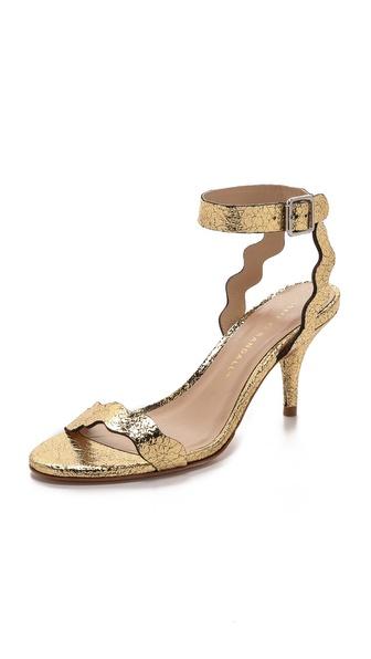 Kupi Loeffler Randall cipele online i raspordaja za kupiti Loeffler Randall Reina Mid Heel Ankle Sandals Gold cipele