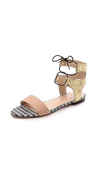 Loeffler Randall Loeffler Randall Alexa Flat Sandals (Yellow)