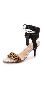 loeffler randall ambrose mid heel sandals