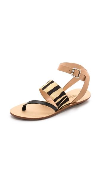 Kupi Loeffler Randall cipele online i raspordaja za kupiti Loeffler Randall Sunny Strappy Sandals Zebra Mix cipele