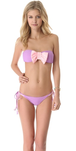 Shop Lolli Cherry Bomb Bow Bandeau Bikini Top and Lolli online - Apparel,Womens,Swim,Swim, online Store