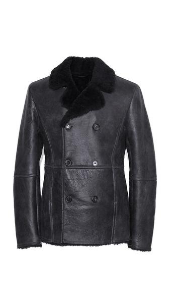 Lot78 Shearling Pea Coat