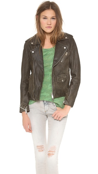 Lot78 Beaten Biker Leather Jacket