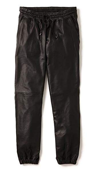 Lot78 Leather Sweatpants