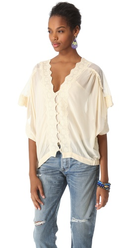 Kupi Love Sam Mesh and Lace Button Front Blouse i Love Sam haljine online u Apparel, Womens, Tops, Blouse,  prodavnici online