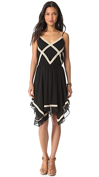 Love Sam Crisscross Lace Dress