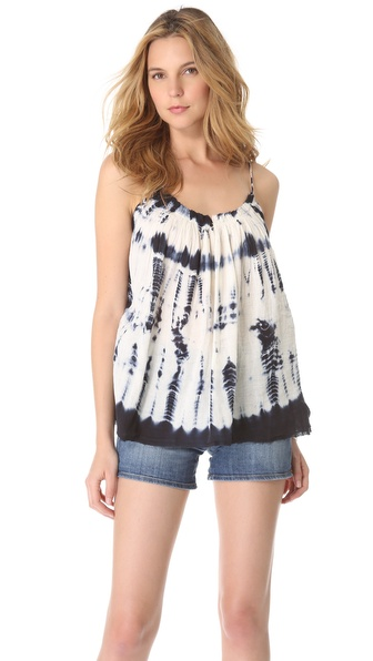 Love Sam Gathered Tie Dye Gauze Tank