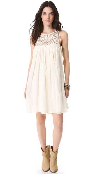 Beaded Gauze Dress :  shopbop style gauze boho