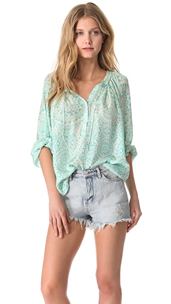 Love Sam Zodiac Print Blouse