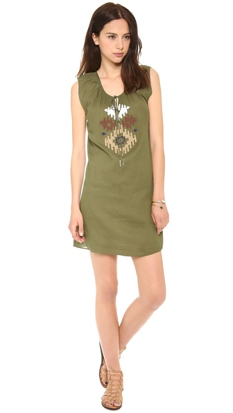 Love Sam Ikat Beaded Dress
