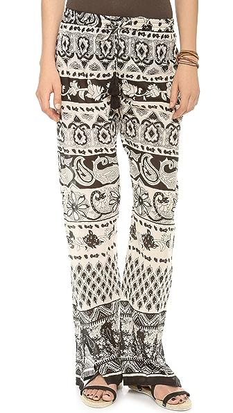 Love Sam Floral Print Wide Leg Pants