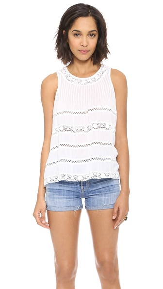 Love Sam Sleeveless Lace Blouse