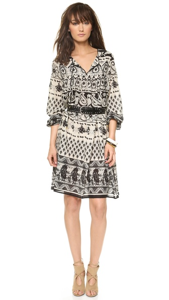Love Sam Ethnic Floral Print Dress