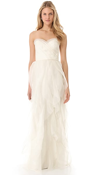 Love, Yu Wanderlust Strapless Gown