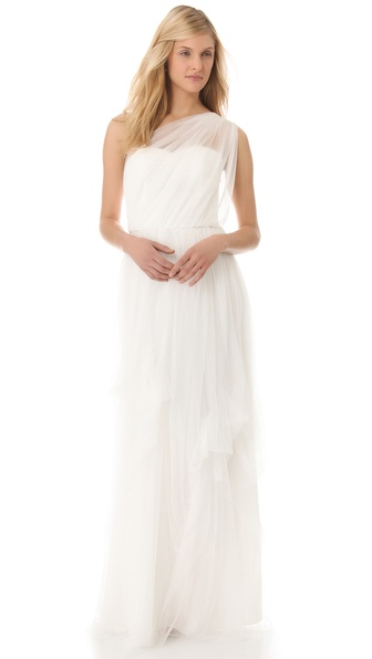 Love, Yu Tulle One Shoulder Gown