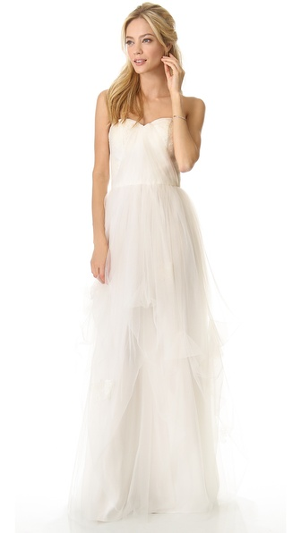 Love, Yu Dovey Strapless Gown