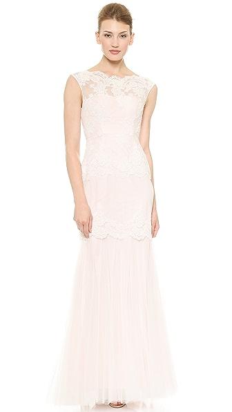Love Love Madison Cap Sleeve Mermaid Gown (White)