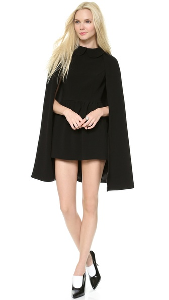 Lovers + Friends Monica Rose Rhodes Cape Dress