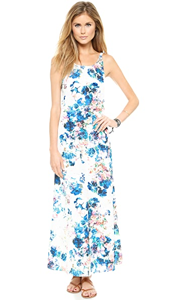 Kupi Lovers + Friends haljinu online i raspordaja za kupiti Lovers + Friends Golden Light Maxi Dress Blue Floral online