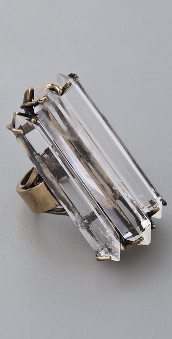 Low Luv x Erin Wasson Triple Crystal Cocktail Ring