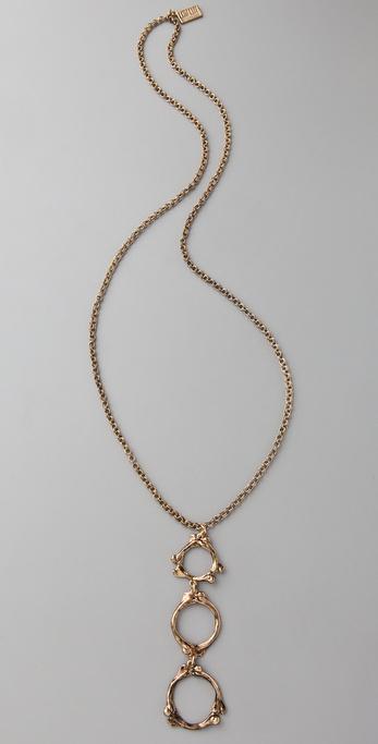 Low Luv x Erin Wasson Long Three Drop Bone Necklace