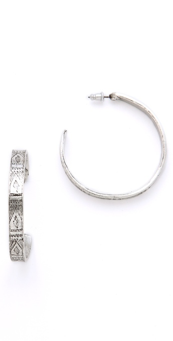 Low Luv x Erin Wasson Afghani Engraved Hoop Earrings