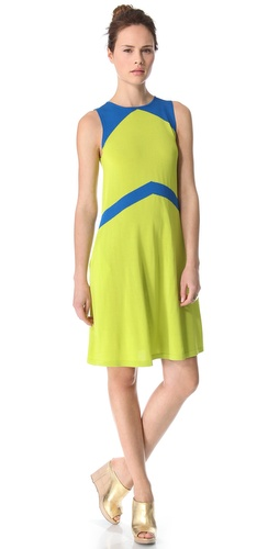 Lisa Perry Sleeveless Chevron Dress
