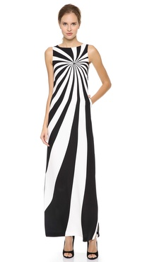 Lisa Perry Optical Maxi Dress