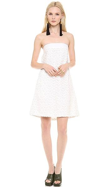 Lisa Perry Strapless Daisy Dress