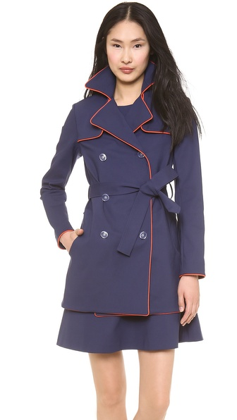 Lisa Perry Piped Trench Coat