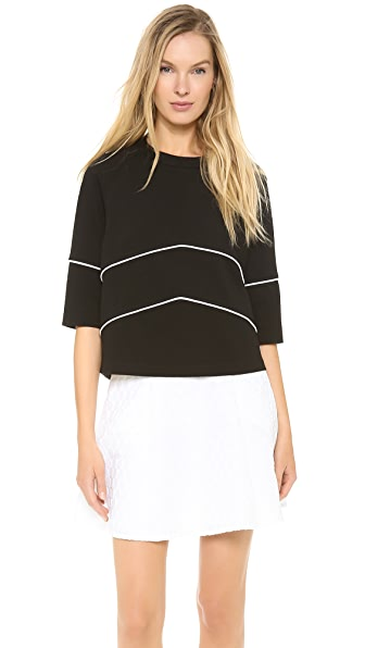 Lisa Perry Ponte Chevron Sweatshirt
