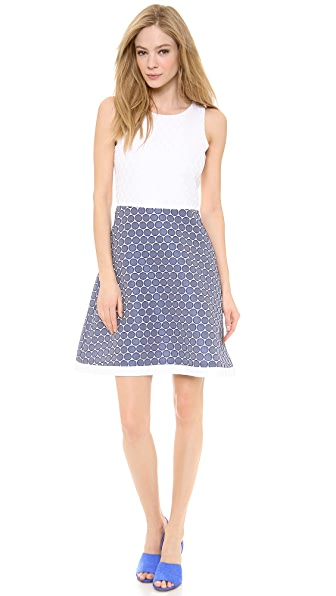 Lisa Perry Waisted Mini Dots Dress