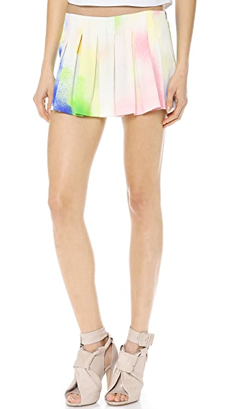 Lisa Perry Spray Paint Pleated Skort