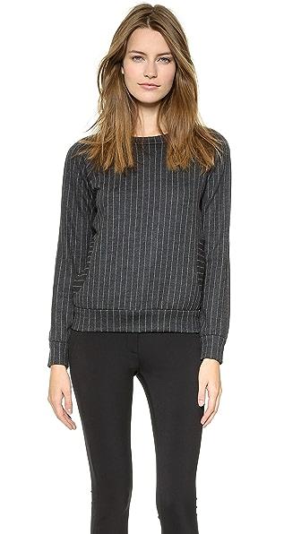 Lisa Perry Wide Pinstripe Sweatshirt