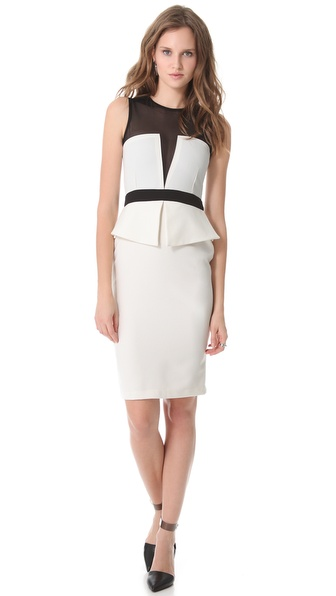 Illusion Bodice Peplum Dress :  knee length formal shopbop dress