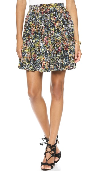 Love Sadie Pleated Floral Skirt