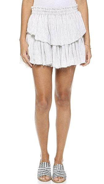 Ruffle Miniskirt (Violet)