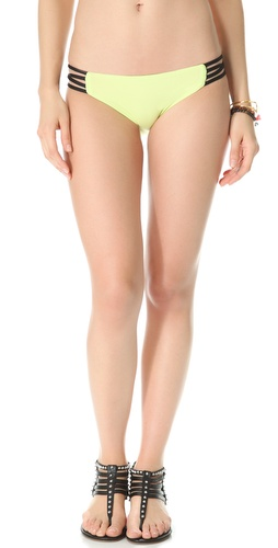 L*Space Colorblocked Reversible Low Down Bikini Bottoms
