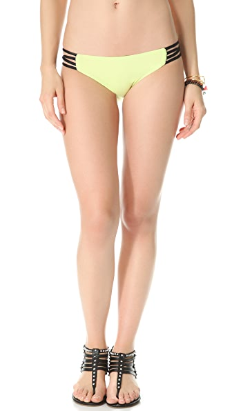 L*Space Colorblocked Reversible Low Down Bikini Bottoms