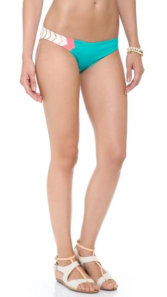 L*Space Colorblock Geo Reversible Bikini Bottoms
