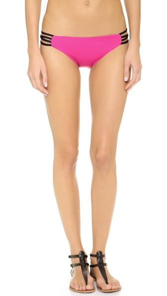 L*Space Colorblock Low Down Bikini Bottoms